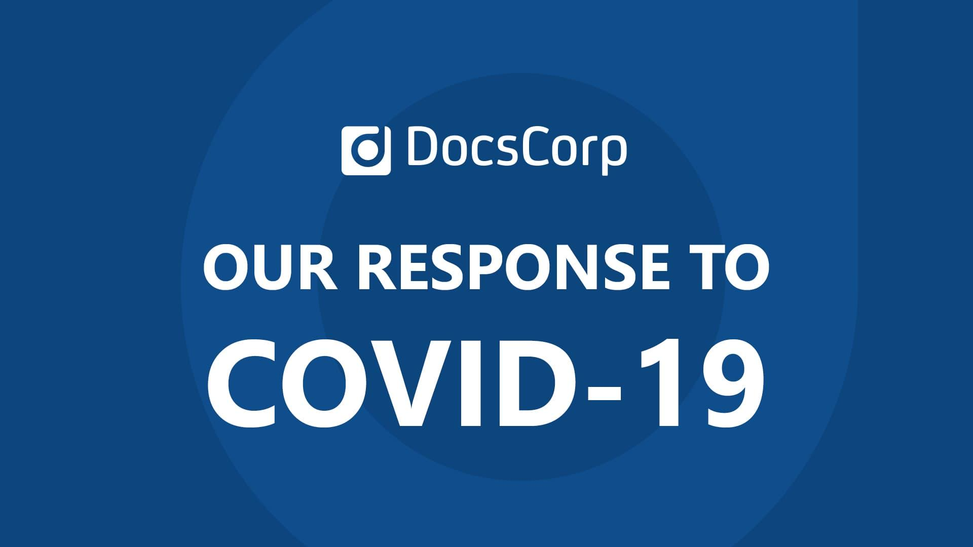 DocsCorp statement on COVID-19