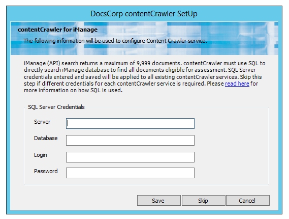 Direct SQL searching in iManage with contentCrawler l DocsCorp